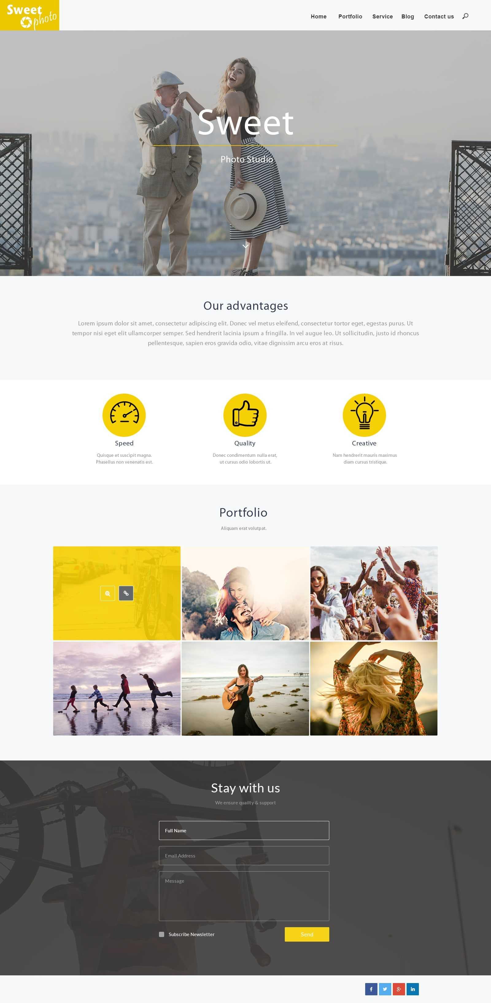 дизайн сайта для фотостудии