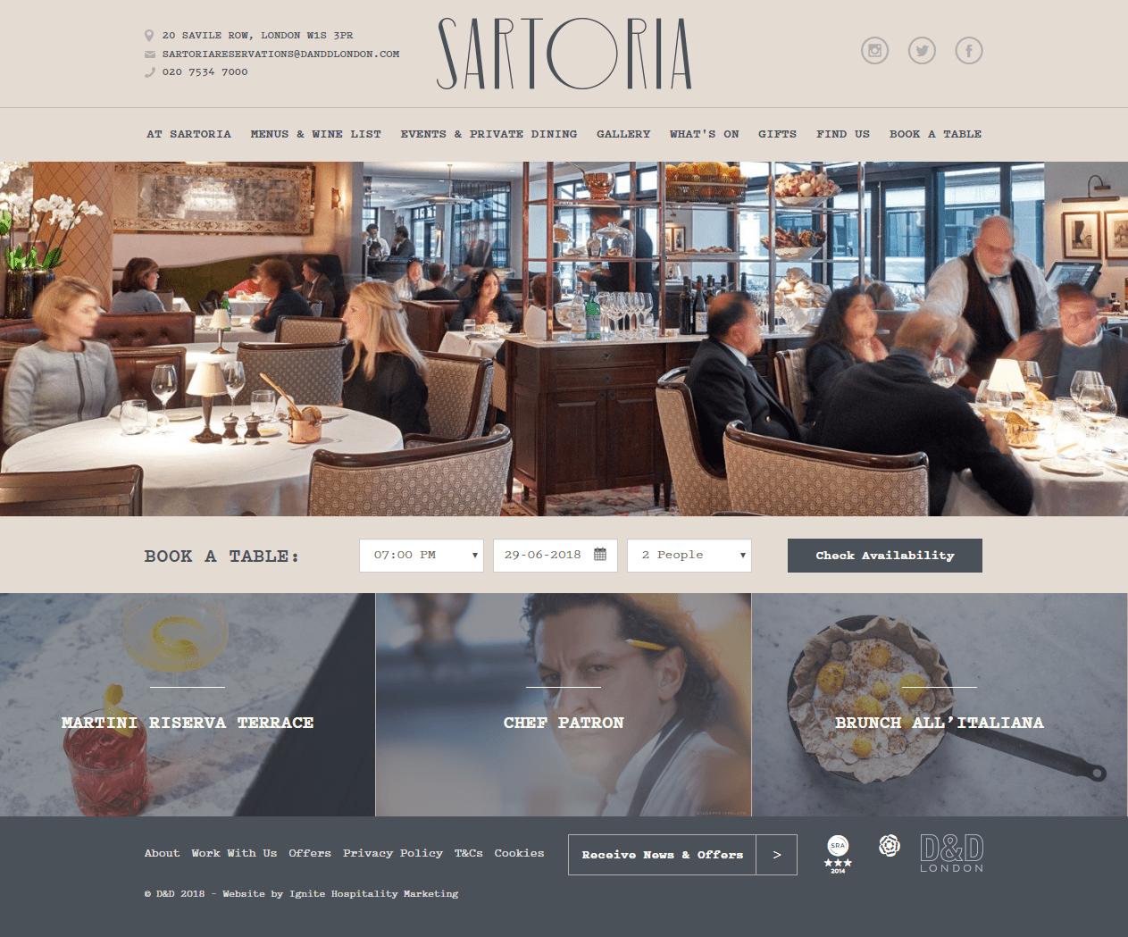 продвижение сайта ресторана